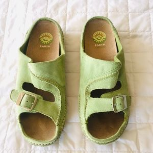 Earth Spirit green slip ons
